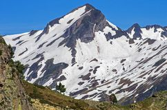 Pyrenees. Snow mountains traveling Royalty Free Stock Photography