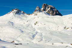 Pyrenees snowed, Formigal, Huesca Royalty Free Stock Photo