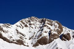 Snowy Pyrenees in a sunny day royalty free stock images