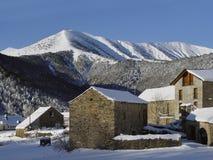 pyrenees spain byviu Royaltyfri Fotografi