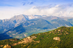Pyrenees in sunny day. Huesca, Aragon Royalty Free Stock Photos