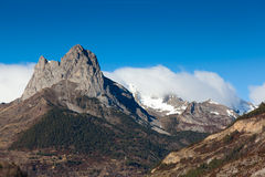 Pyrenees in Tena valley Stock Photos