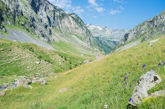 Pyrenees valley. Izas valley in the spanish pyrenees Royalty Free Stock Photo