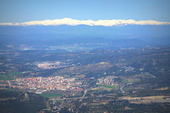 Pyrenees and valley scenic view,Spain Royalty Free Stock Photography