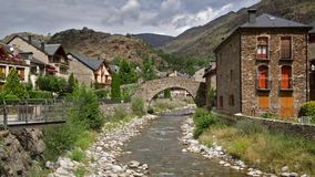 Pyrenees village of Catalonia. stock video