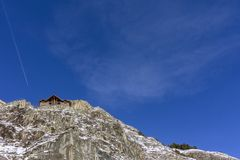 Pyrenes mountain landscape view from town of Canillo. Andorra. Royalty Free Stock Photos