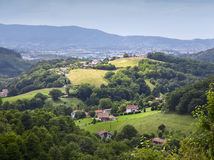 Pyrennees mountains at the border between Spain and france in Pays Basque Royalty Free Stock Image