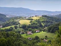 Pyrenneesbergen bij de grens tussen Spanje en Frankrijk in Pays Basque Royalty-vrije Stock Afbeelding