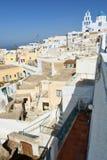 Pyrgos Kallistis 圣托里尼,基克拉泽斯海岛 希腊 免版税库存照片