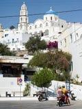 Pyrgos in Santorini. Royalty Free Stock Image
