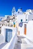 Pyrgos, Santorini, Greece, whitewashed city Stock Images
