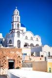 Pyrgos, Santorini, Greece, whitewashed city Stock Photos