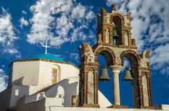 Pyrgos, Santorini island, Greece Royalty Free Stock Images