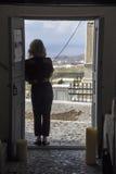 Pyrgos Santorini Stock Images