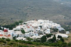 Pyrgos Village, Tinos Stock Images