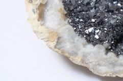 Pyriet minerale steen Stock Afbeeldingen