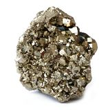 Pyrietkristallen stock afbeelding