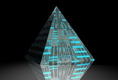 Pyrimid. 3d graphic render of pyrimid Stock Photos