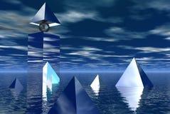 Pyrimids de cristal Foto de archivo libre de regalías