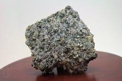 Pyrit (dum s-guld) arkivbild