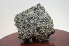 Pyrit (Gold des Dummkopfs s) Stockfotografie