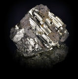 Pyrite. Natural crystal,Close-up Royalty Free Stock Photos