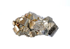 Pyrite. Single large cubes Stock Images