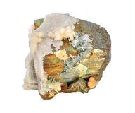 Pyrite, beautiful Royalty Free Stock Photo