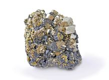 Pyrite, beautiful. Single large cubes Stock Images