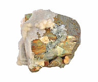 Pyrite, beautiful single. Large cubes Royalty Free Stock Image