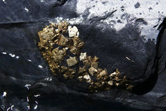 Pyrite crystals Royalty Free Stock Photography