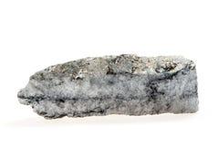 Pyrite de charbon d'isolement sur le blanc Image stock