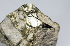 Pyrite (fool's gold) Royalty Free Stock Photos