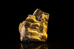 Pyrite in front of Black Stock Images