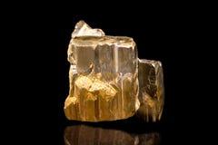Pyrite or iron pyrite mineral stone, gemstone, healing, black ba Royalty Free Stock Photo