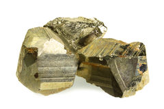 Pyrite isolated on white Stock Photos