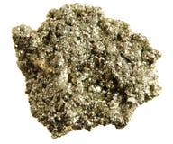 Pyrite (l'or de l'imbécile) d'isolement Photo stock