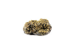 Pyrite mineral. On white background Stock Image