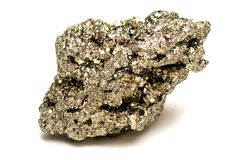 Free Pyrite Mineral Isolated Stock Photography - 123000042