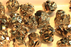 Pyrite mineral texture. As nice natural background Royalty Free Stock Photo