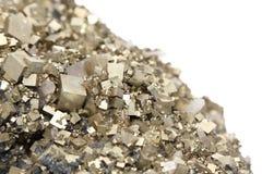 Pyrite mit Galena, Kalzit, Quarz Lizenzfreies Stockfoto