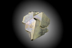 Pyrite Pyramid Cluster. A cluster of pyrite pyramids, natural formation Royalty Free Stock Photography