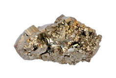 Pyrite. Single large cubes Stock Photo
