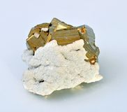 Pyrite. Single large cubes Stock Image
