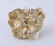 Pyrite. Single large cubes Royalty Free Stock Images
