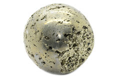 Pyrite Sphere Royalty Free Stock Image