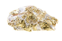 Pyrite yellow isolated on white background. Close up Stock Photo