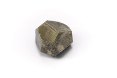 Pyrite. An yellow natural stone Royalty Free Stock Image