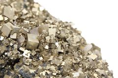 Pyrites avec de la galène, calcite, quartz Photo libre de droits