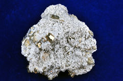 Pyrites druse Stock Photo